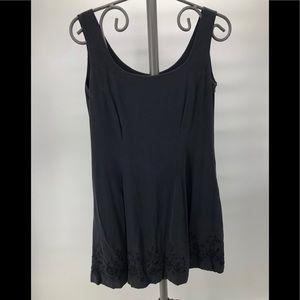 Laura Ashley Sz 10 flare beaded little black dress